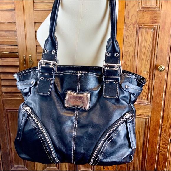 Franco Sarto Handbags - FRANCO SARTO BLACK BAG